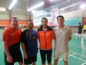 Zhang Ning and Li Ang, Chinese badminton team assistant coach.